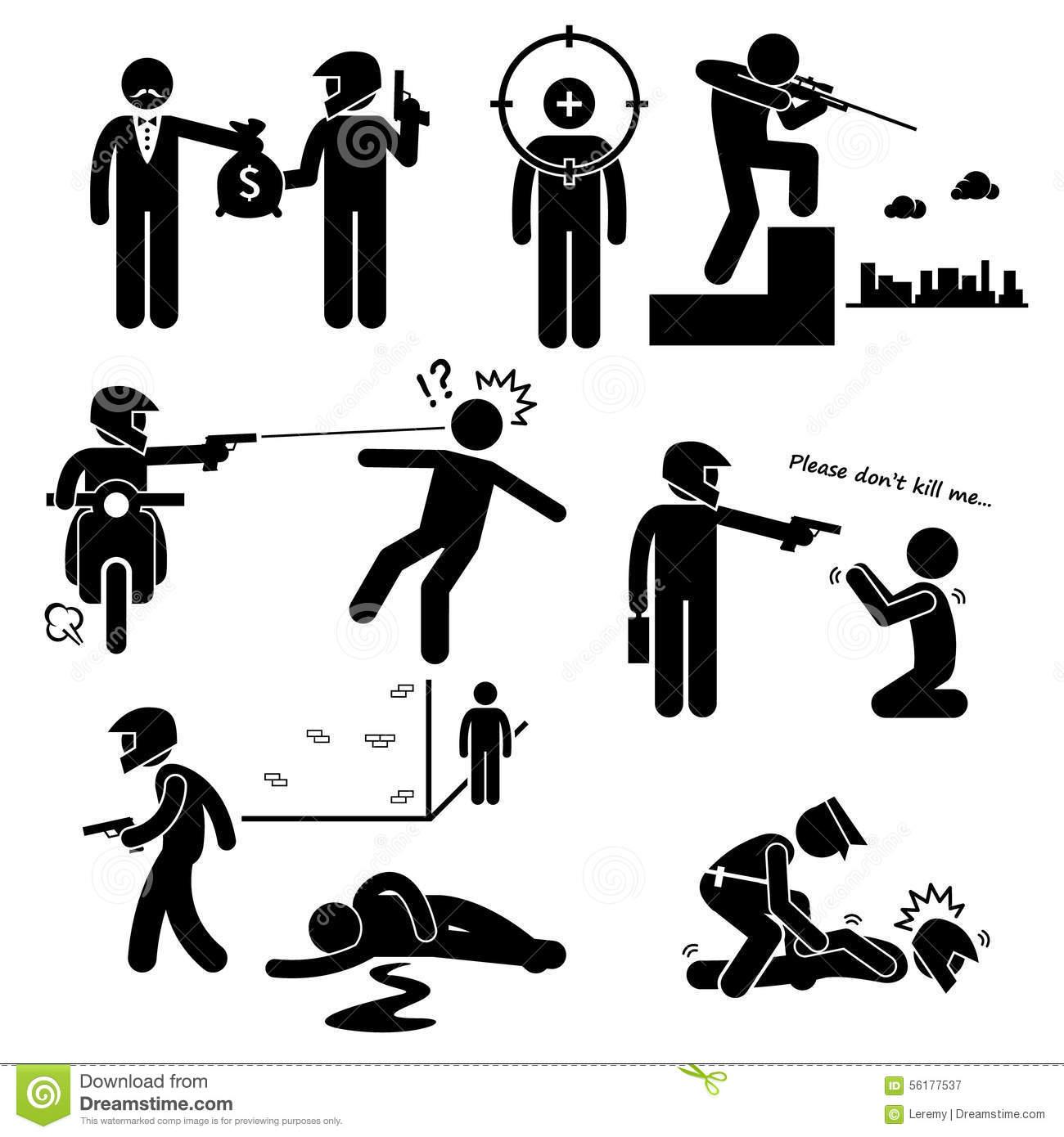 Murderer clip art