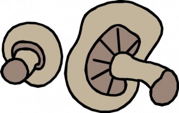 Cut mushrooms clip art | Clipart Panda - Free Clipart Images
