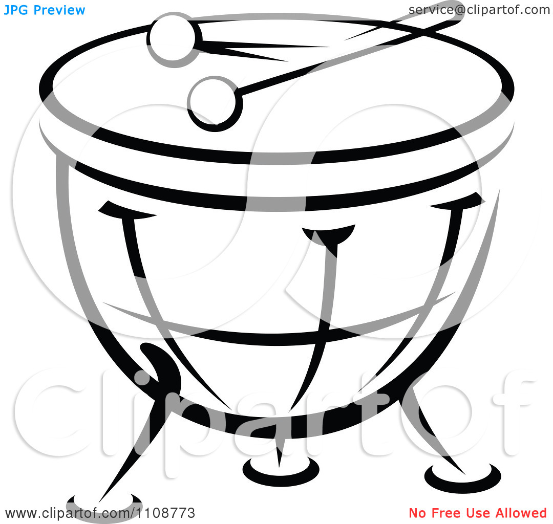 music instruments clipart black and white - photo #7
