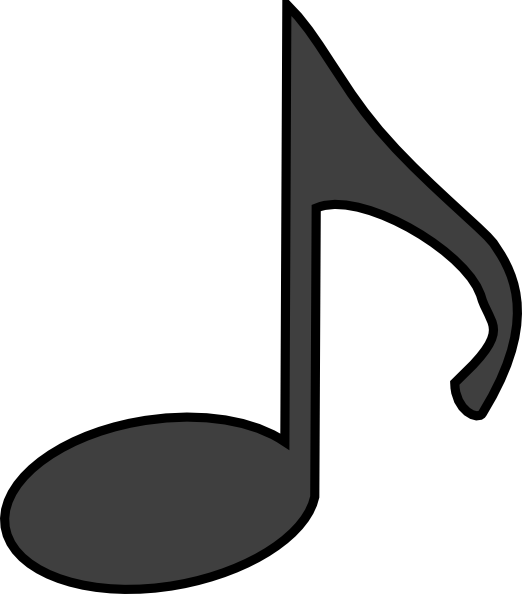music note clip art - vector