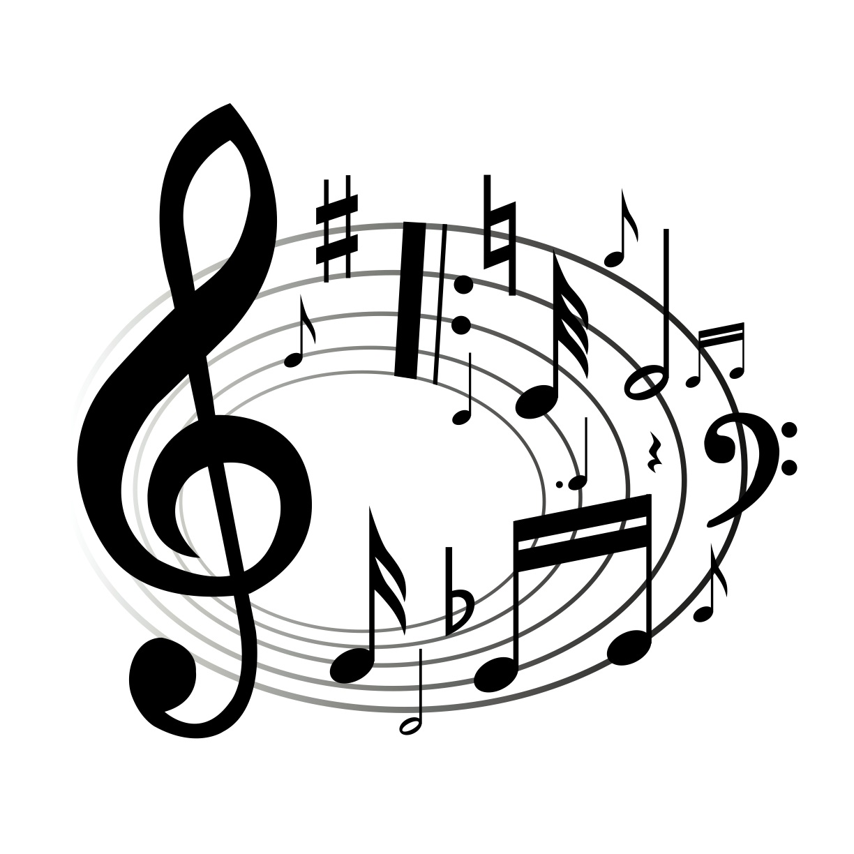 Music Notes Clipart Black And White Panda Free