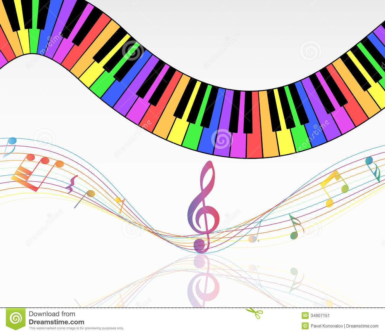 Clip art transparent background musical note staff background vector