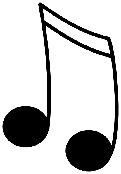 Music Notes Clip Art Black And White | Clipart Panda ...
