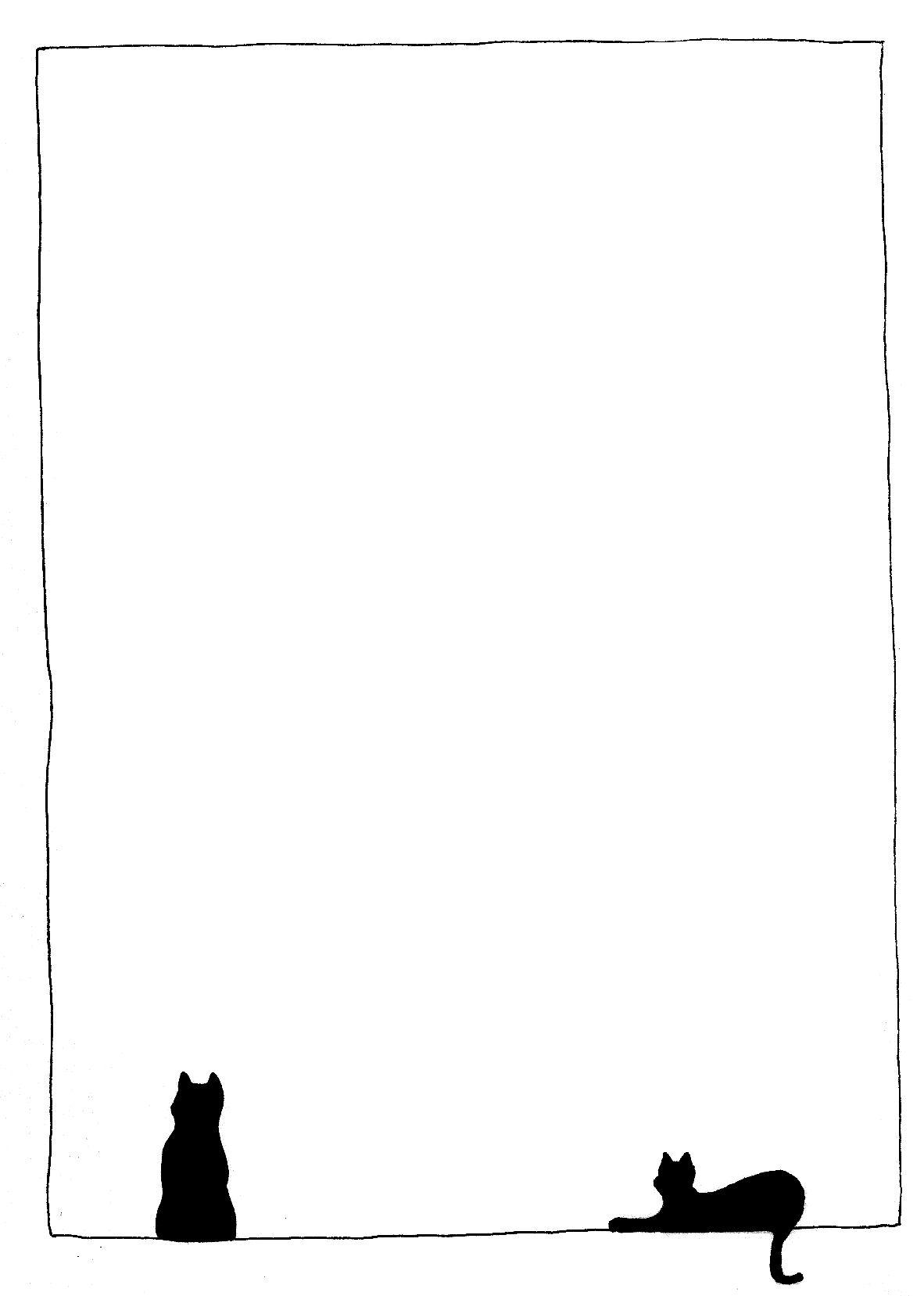 Kitten Clip Art Music Notes Border Cli...