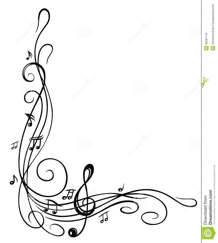 music notes border clipart clipart panda free clipart images Jazz Notes Clip Art Cartoon Soldier Clip Art