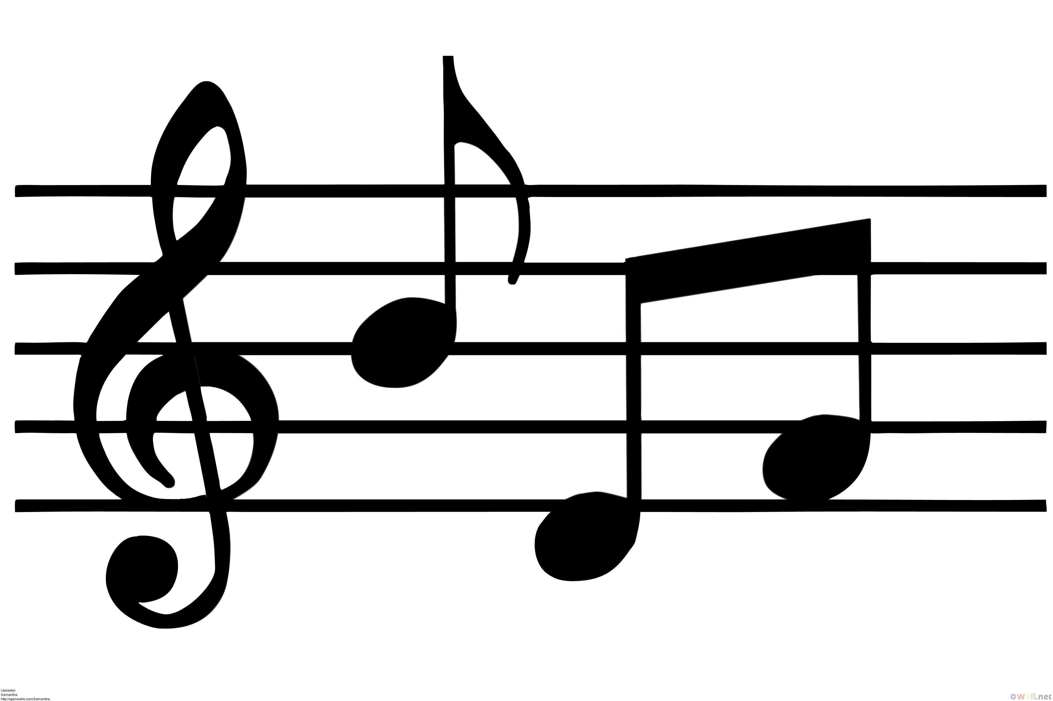 clipart notes musical staff note border