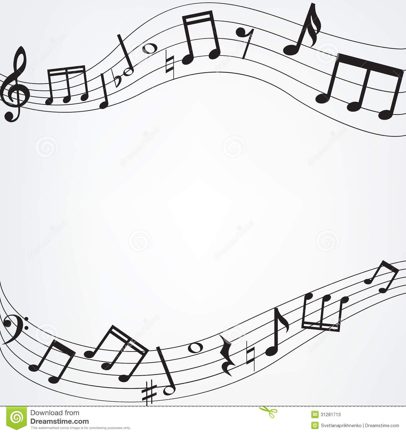 clipart info - Music Note Picture Frame
