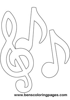 Music Notes Coloring Pages | Clipart Panda - Free Clipart Images