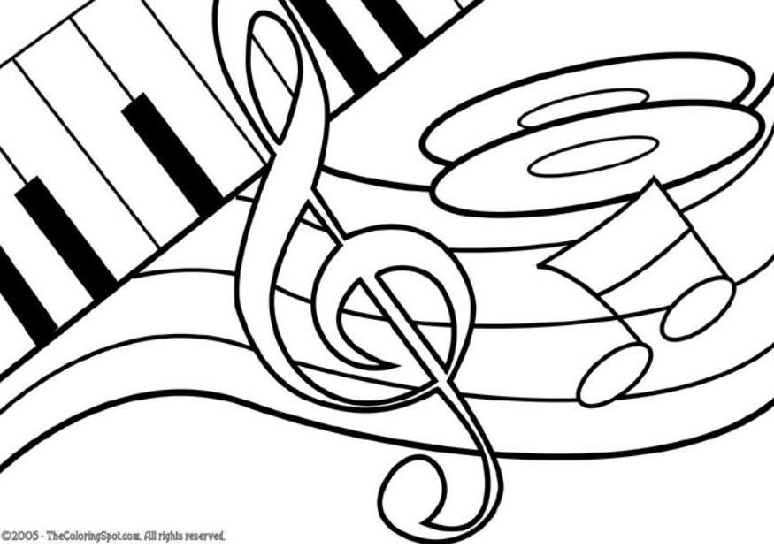 music20notes20coloring20pages - Music Coloring Pages
