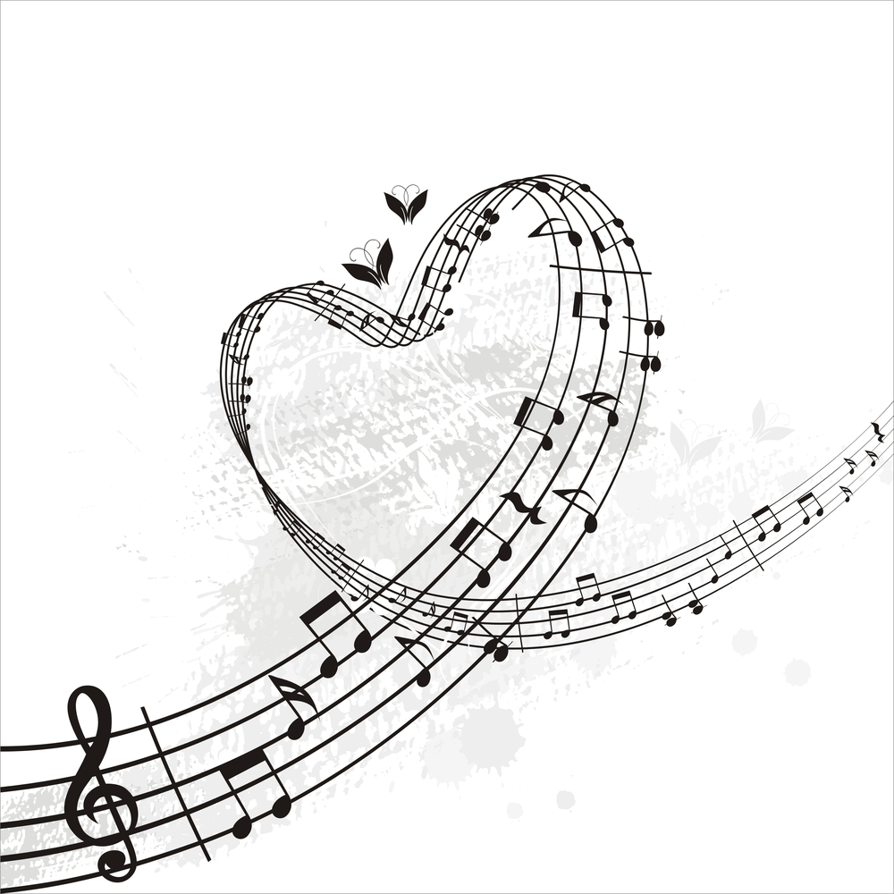 Line Art Music Notes : Music notes heart beat clipart panda free images