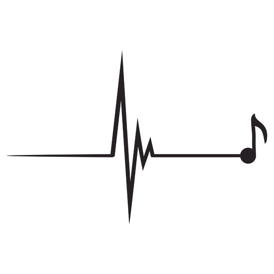 Heartbeat Line Art : Music notes heart beat clipart panda free images