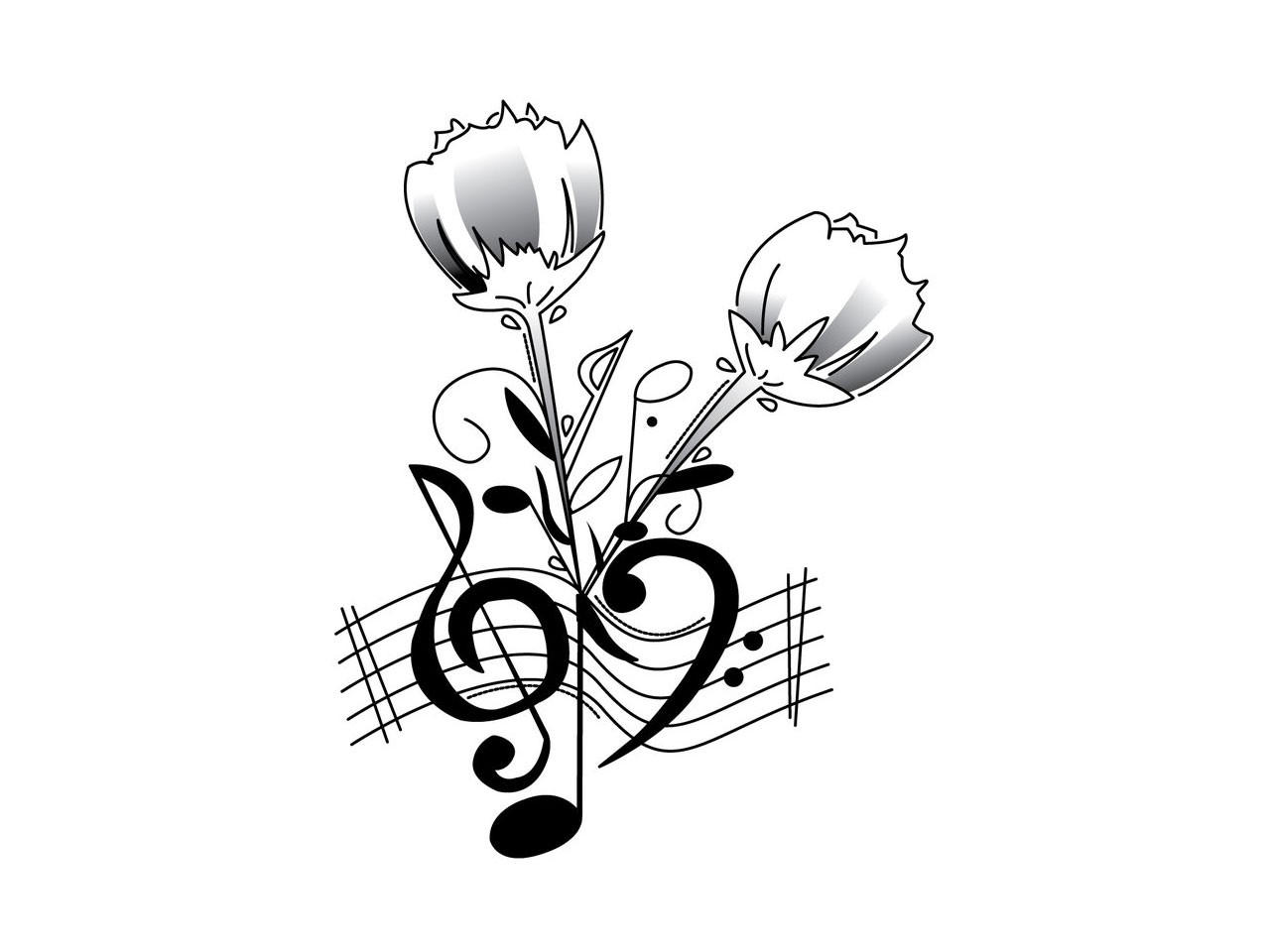 Music Notes Heart Beat | Clipart Panda - Free Clipart Images