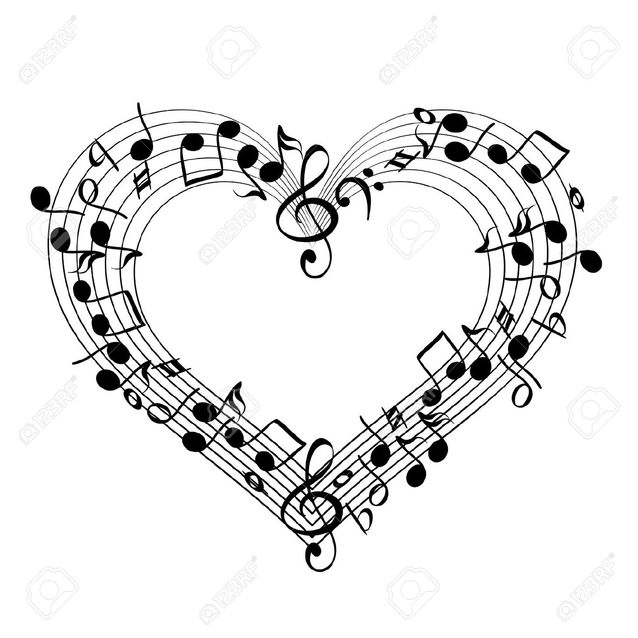 Music Notes Heart Clipart | Clipart Panda - Free Clipart ...