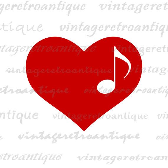 Heart Music Note Clip Art | Clipart Panda - Free Clipart ...