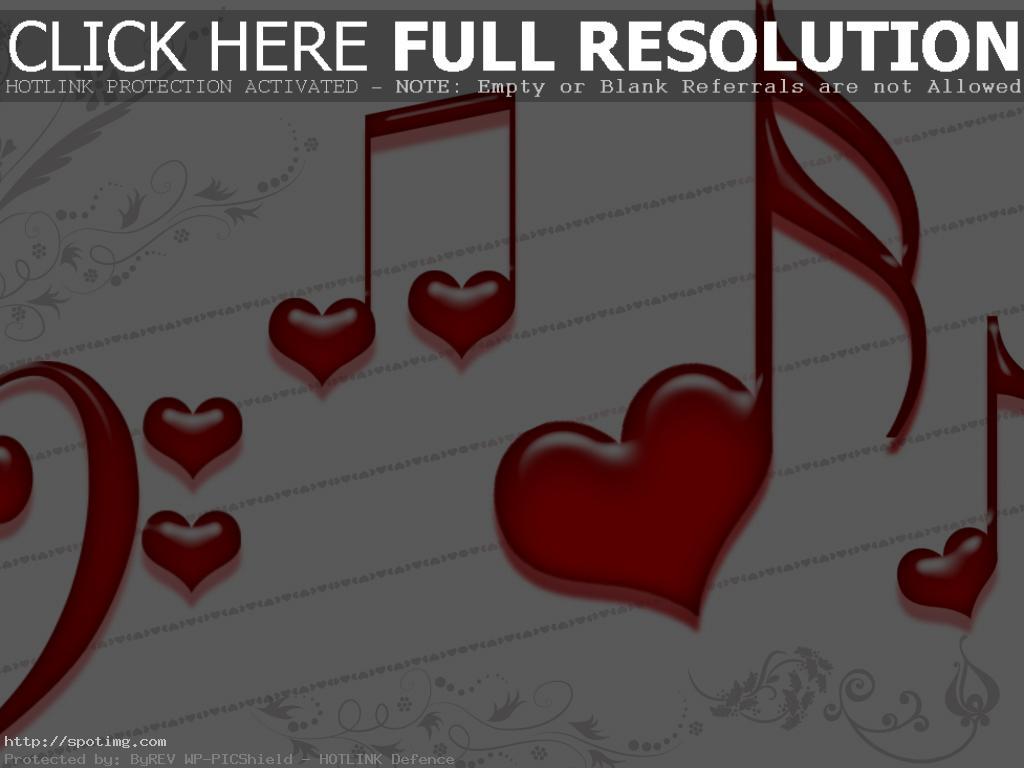 Music Notes Heart Wallpaper