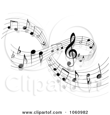 Musical Notes Background Clip Art