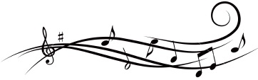 Musical notes clipart cropped