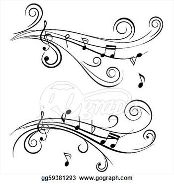 Wavy Music Staff Clipart Clipart Panda