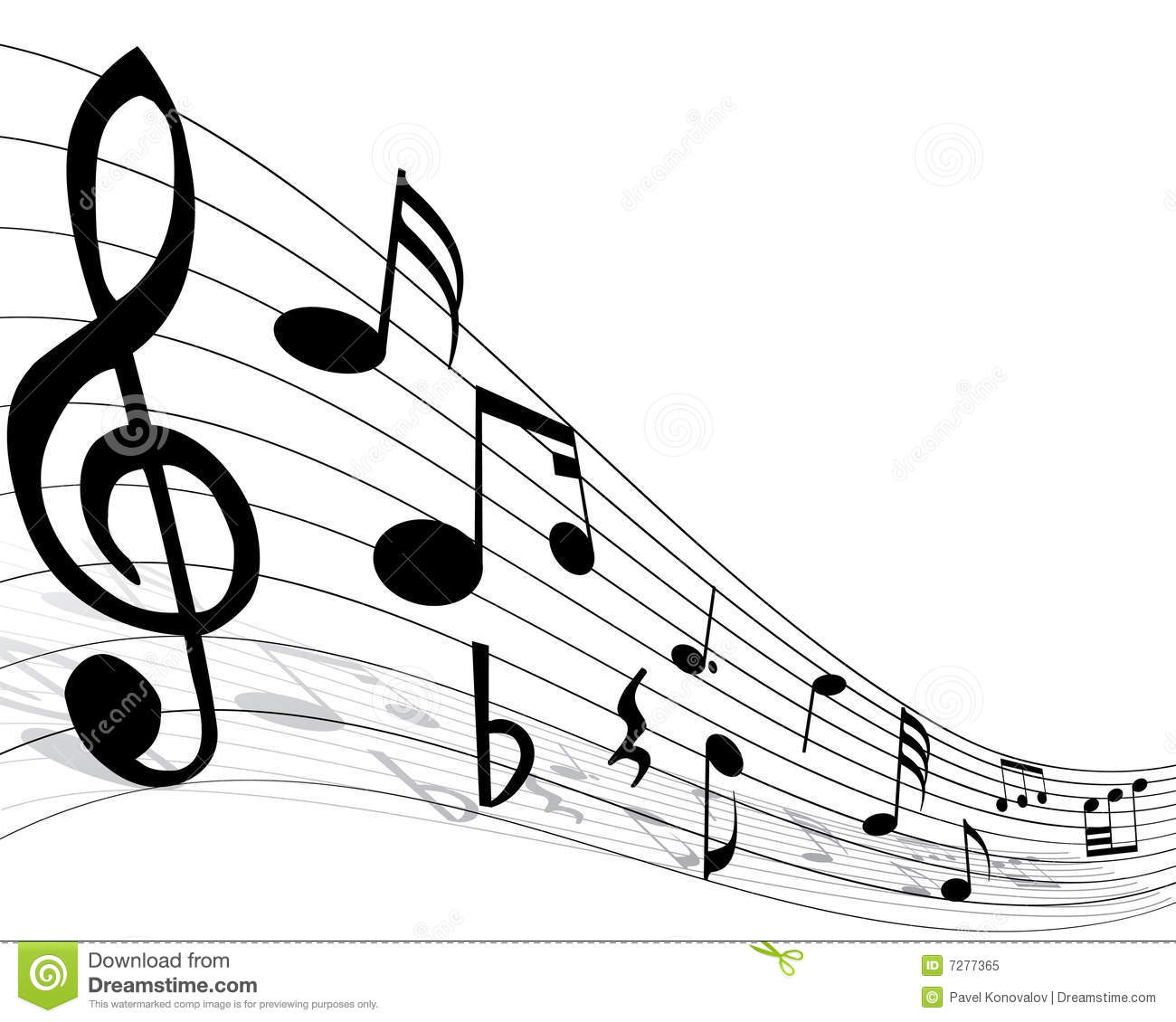 Music Notes On Staff Clipart Clipart Panda Free