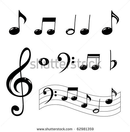 Music Notes On Staff Clipart | Clipart Panda - Free Clipart Images