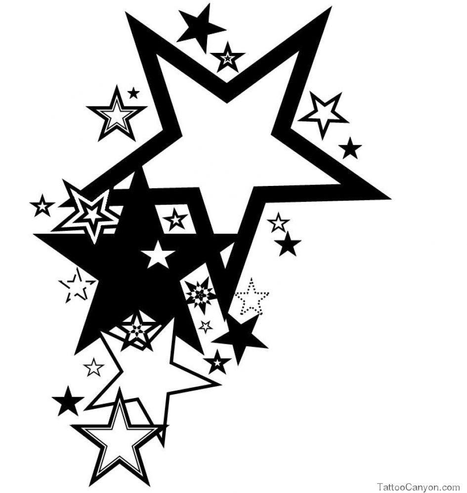 Рисунки звезды татуировки