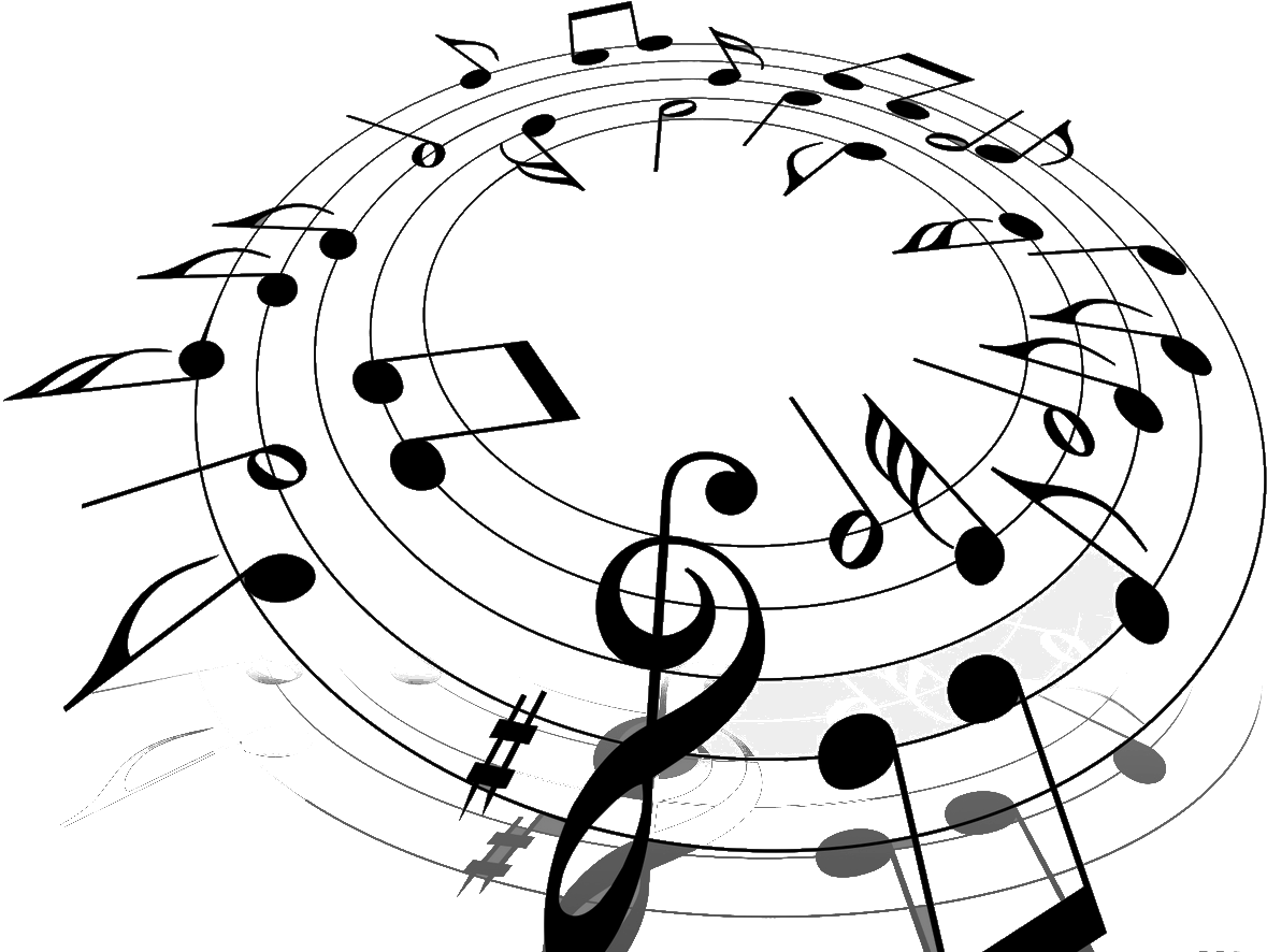 Png Hd Musical Notes Symbols Transparent Hd Musical Notes: Music Background Black And White Png