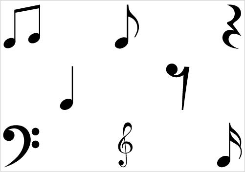 Music Notes Symbols Clip Art | Clipart Panda - Free Clipart Images