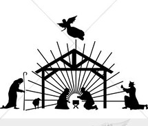 Nativity Clip Art Black And White Free | Clipart Panda - Free Clipart ...