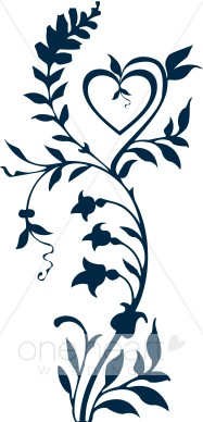 Navy 20blue 20heart 20clipart Blue Flower Clipart Cool Wedding Scroll