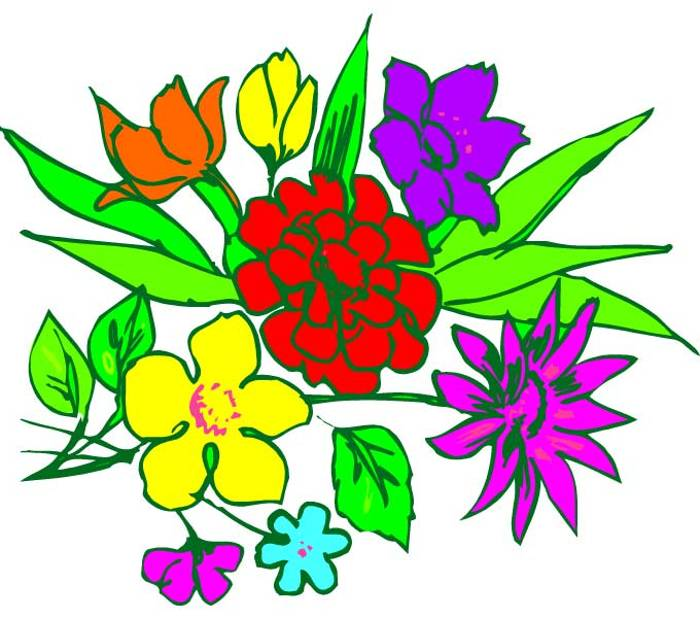 free clipart bouquet of flowers - photo #22