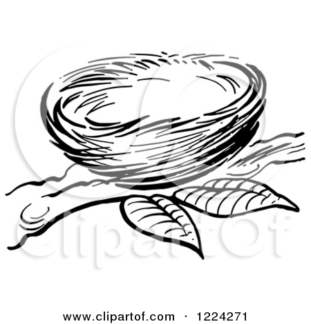 Nest Clip Art Black And White | Clipart Panda - Free Clipart Images