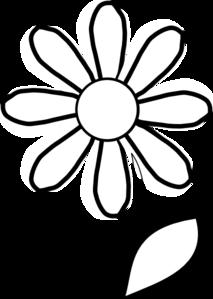 Black And White Daisy Clipart | Clipart Panda - Free ...