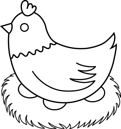 Line Drawing Chicken : Farm clipart black and white panda free