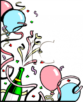 New Years Balloons Clip Art