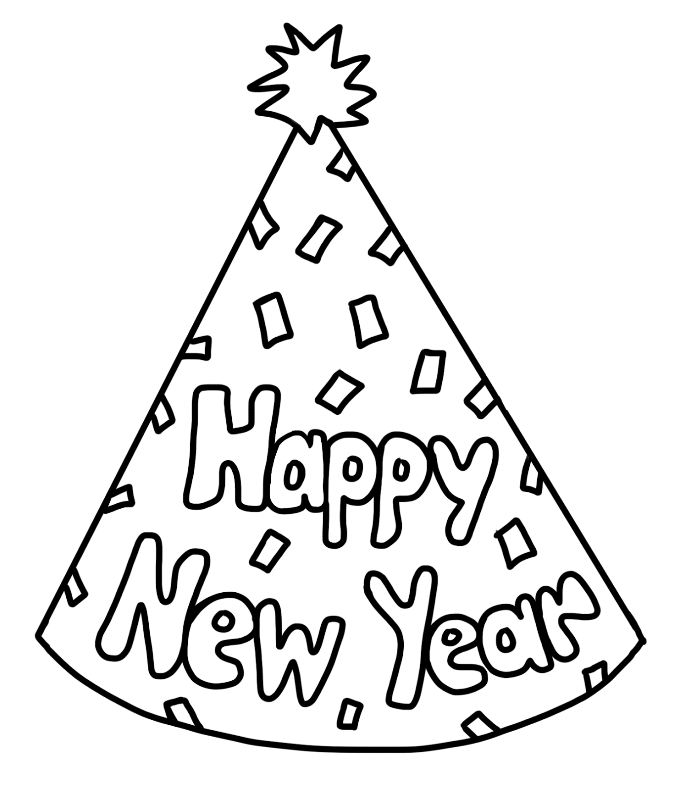 Free coloring pages new years -  New Years Day Coloring Pages New Years Day Clipart Clipart Panda Free Clipart Images
