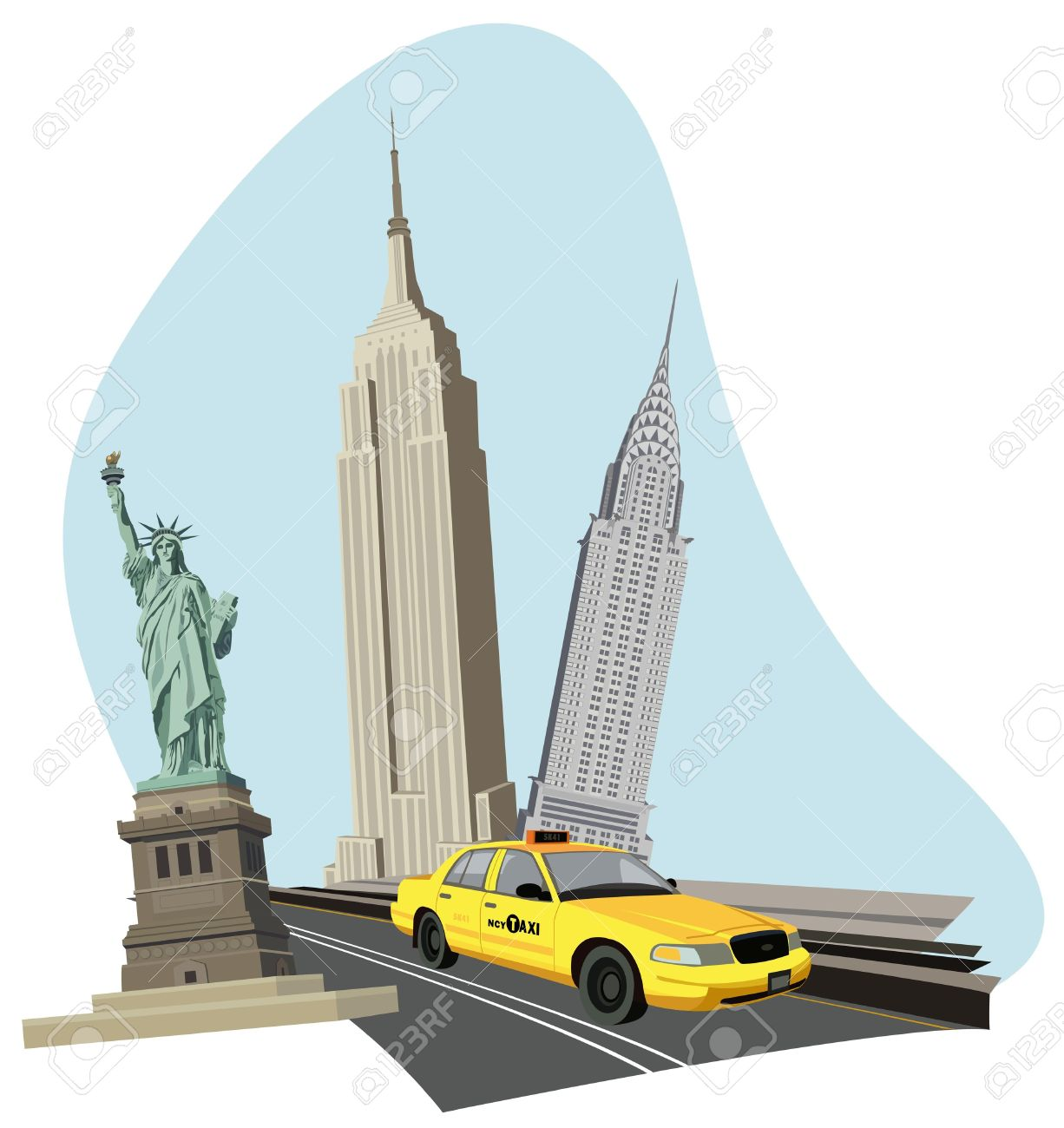 New York Clip Art Black And White | Clipart Panda - Free Clipart ...
