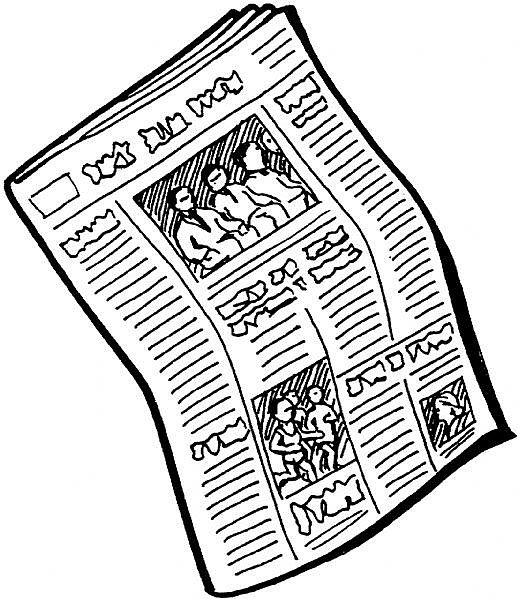 Cartoon newspaper