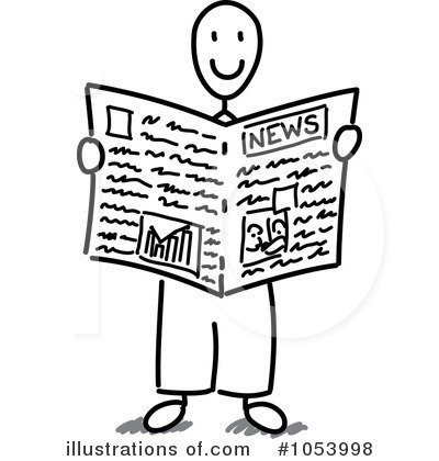 Pictures of newspaper reports clipart