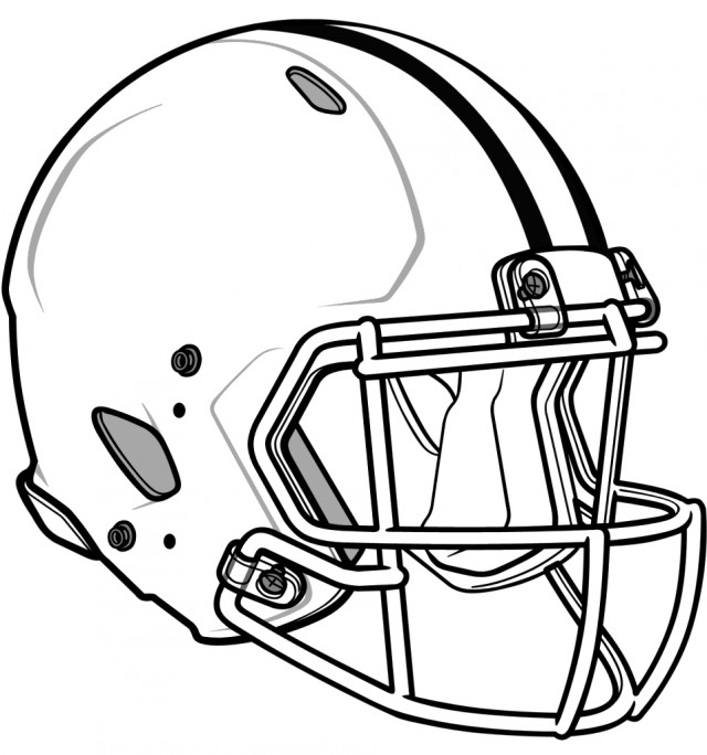 Football helmet pencil drawing clipart panda free for Nfl helmets coloring pages
