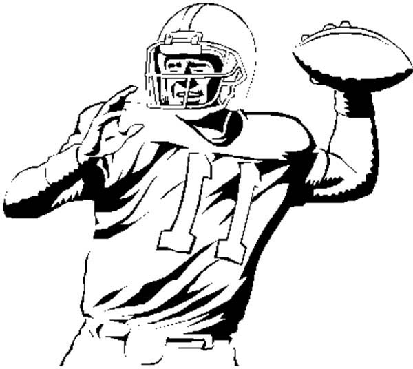 Nfl Player Throwing Ball Clipart Panda Free Clipart Images