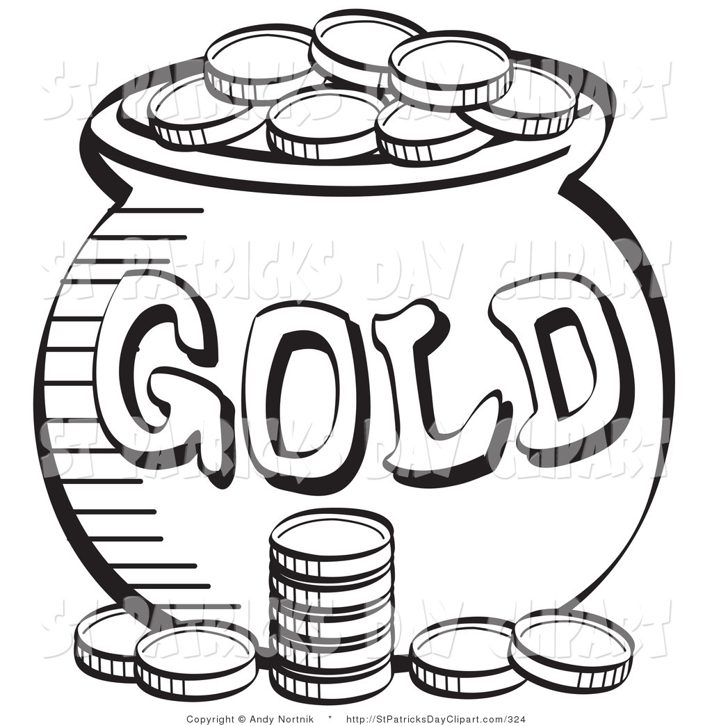 Coin Money Clipart Black And White