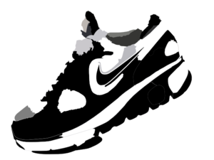 nike running shoes clipart clipart panda free clipart images rh clipartpanda com sports shoes clipart running shoes pictures clip art