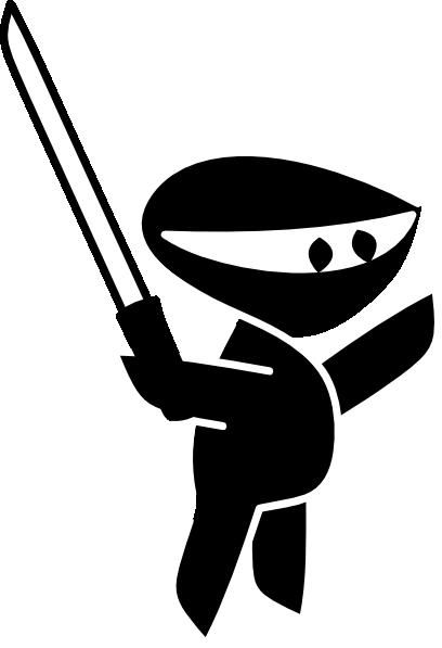 ... ninja-clip-art_107430_Black_White_Sword_Boy_Cartoon_Ninja_clip_art