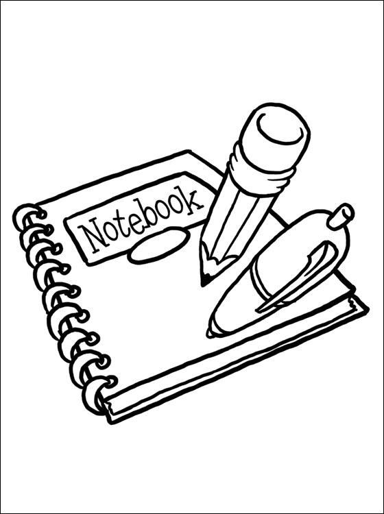 Dibujos de utiles escolares para colorear