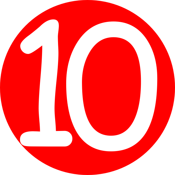 Number 10 clipart clipart panda free clipart images for Free clipart numbers
