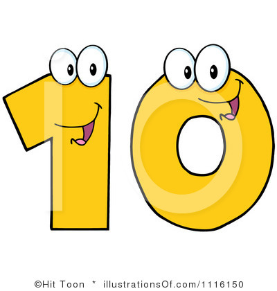 numbers up to 10 clip art