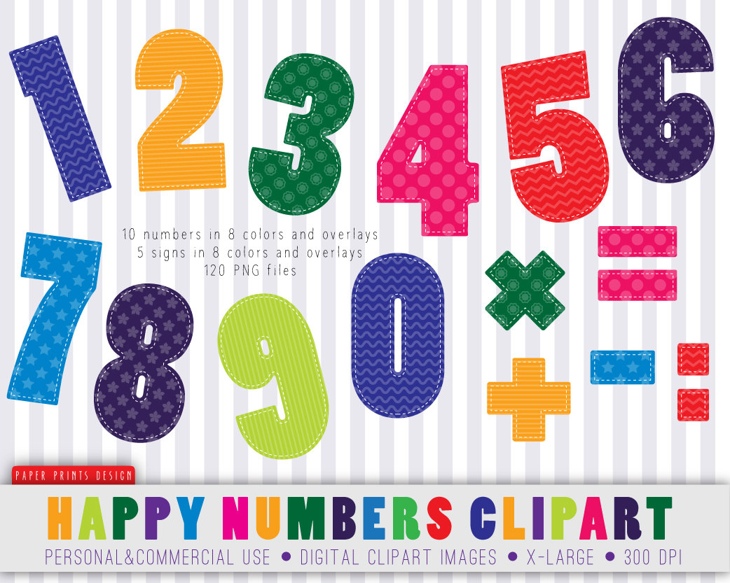 Number Clip Art For Preschool | Clipart Panda - Free Clipart Images