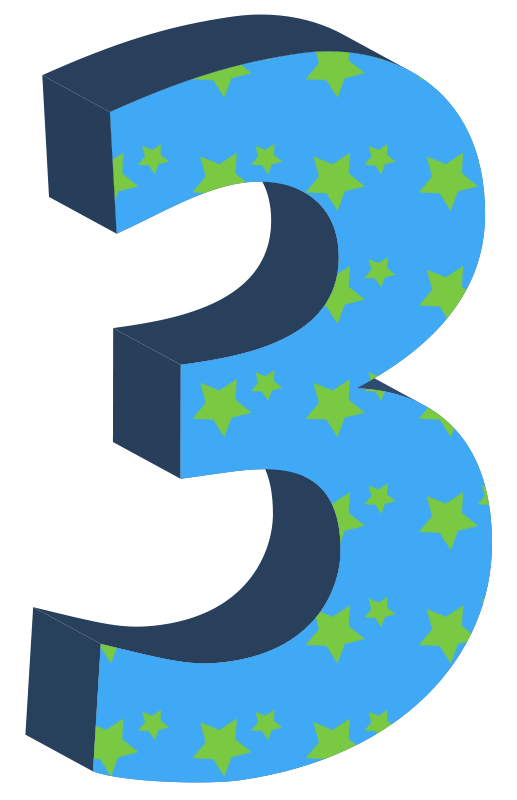Number Three Clipart