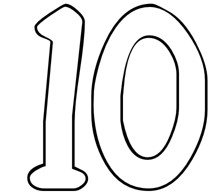 Number 10 Clipart | Clipart Panda - Free Clipart Images