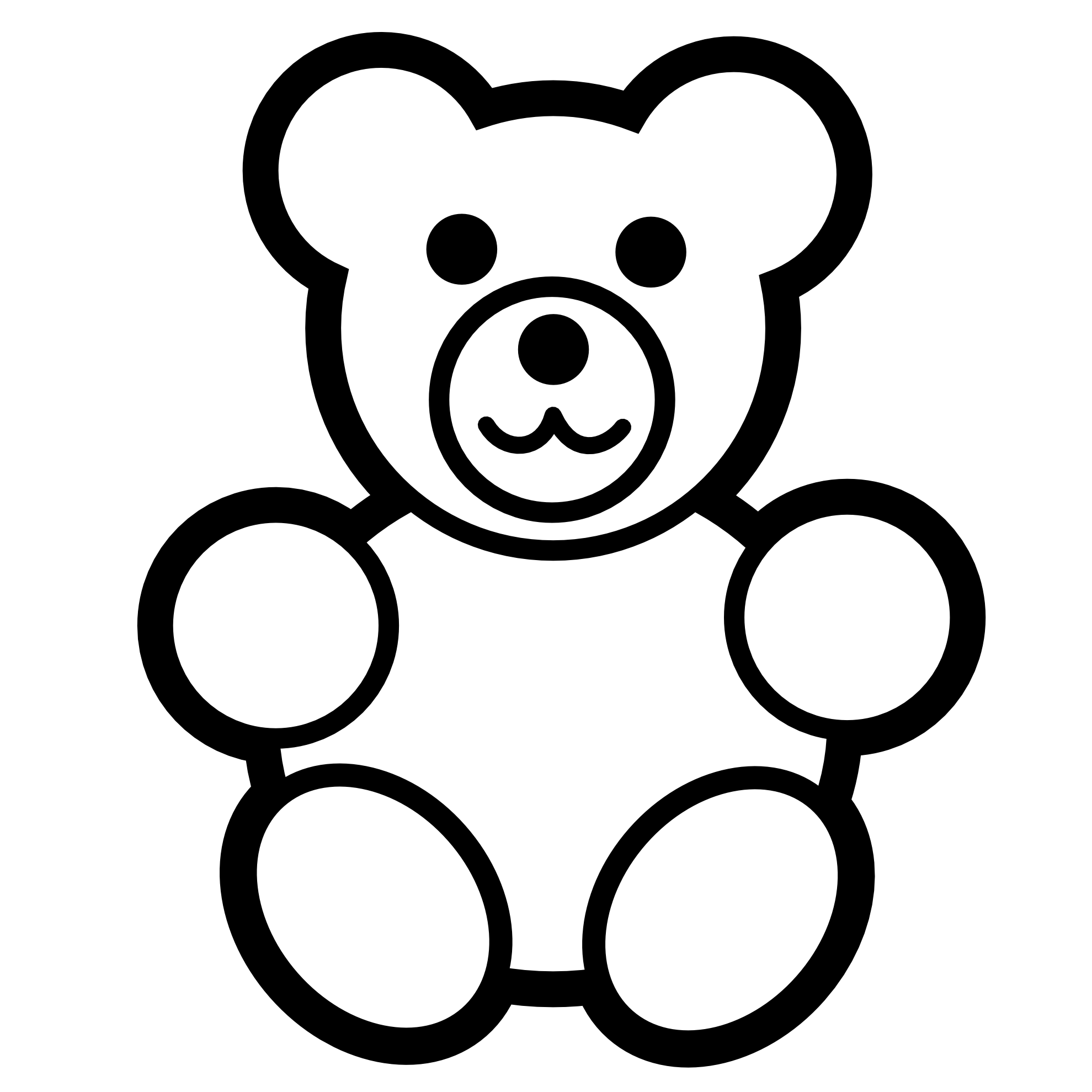 Black And White Line Drawings Of Animals : Numbers clipart for kids black and white panda